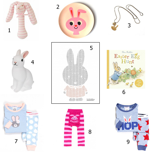 Chocolate free easter gift ideas melbourne mamma 1 alimrose bunny rattle 1395 from from lola with love 2 bunny rabbit plate 1295 from cradle rock 3 bunny and star necklace 8 from kawaii kids negle Choice Image