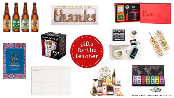 Melbourne Mamma - Melbourne Christmas Gift Guide 2018 - Christmas Gifts for Teachers