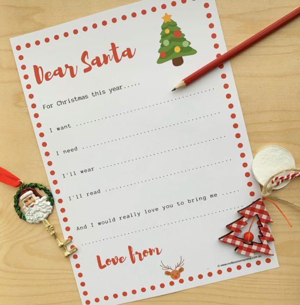 dear santa christmas letter template