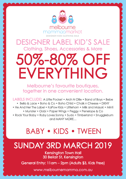 Melbourne Mammas Market - 3 March 2019